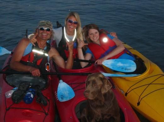Kayaking on Gull Lake